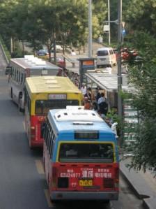 Arrêt de bus sur Xueyuan lu